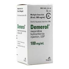 Demerol injection 100mg (Meperidine hydrochloride)